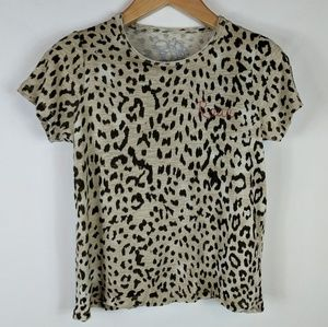 Chaser | Roar leopard print t S NWT